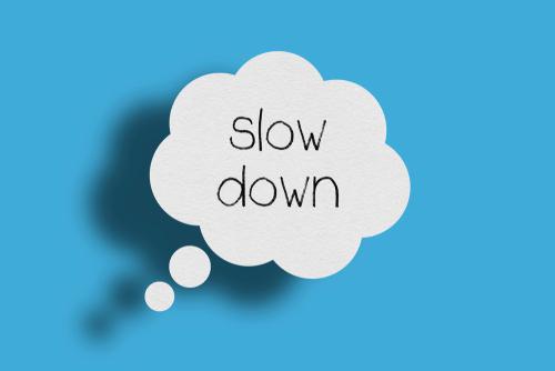 slow down speaking