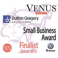 Finalist badge for SimplyAmazingTraining Venus 2015