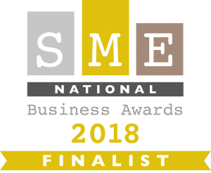 "National Finalist ""Business Woman of the Year"" 2018 – SME National Business Awards"