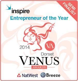 "Semi Finalist ""Entrepreneur Of The Year"" Oct 2014 – Dorset Venus Awards"